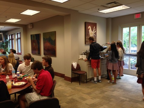 Students use the new Flik setup. This corner, formerly dedicated to microwaves, now houses panini presses.