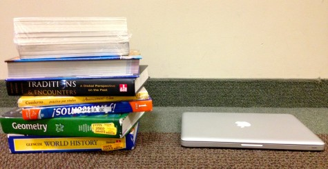 Textbooks at St. George's are going online. Now a majority of our resources are compiled onto a computer.