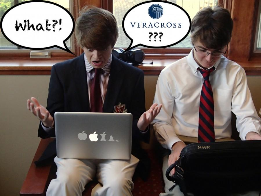 Senior Cole McLemore and sophomore Henry Adkins struggle with Veracross. Students raised many complaints about the system.