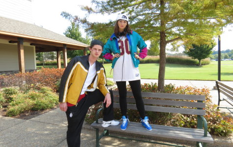 Seniors Shiloh Tribble and Kathryn Heard show their hip hop threads.