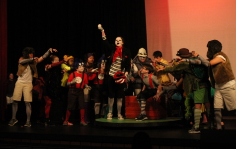 The cast performs during dress rehearsal. The students have been preparing to put on