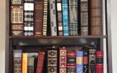 Senior Courtney Harshbarger's collection of classic novels. Harshbarger has read a new classic book each week this year.