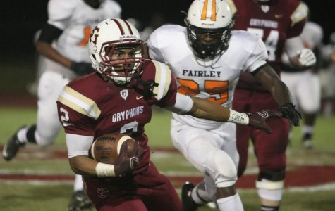 The Gryphons play Fairley High School on Monday, Sep. 28. The Gryphons won the game 54-8.