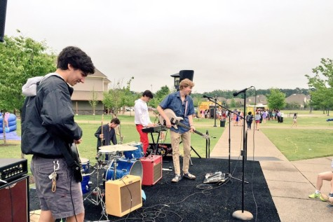 Senior Harrison Schutt plays  with his band, Jenette McKurdy. Last year, the band played at the St. George's Carnival Day.