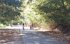 Women ride bikes along the Greenline in Memphis, Tenn. The Greenbelt, a similar trail, could someday come through the St. George's Collierville Campus.