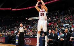 Atlanta Hawks player Kyle Korver goes up for a shot. He has seen his value skyrocket thanks to advanced statistics.