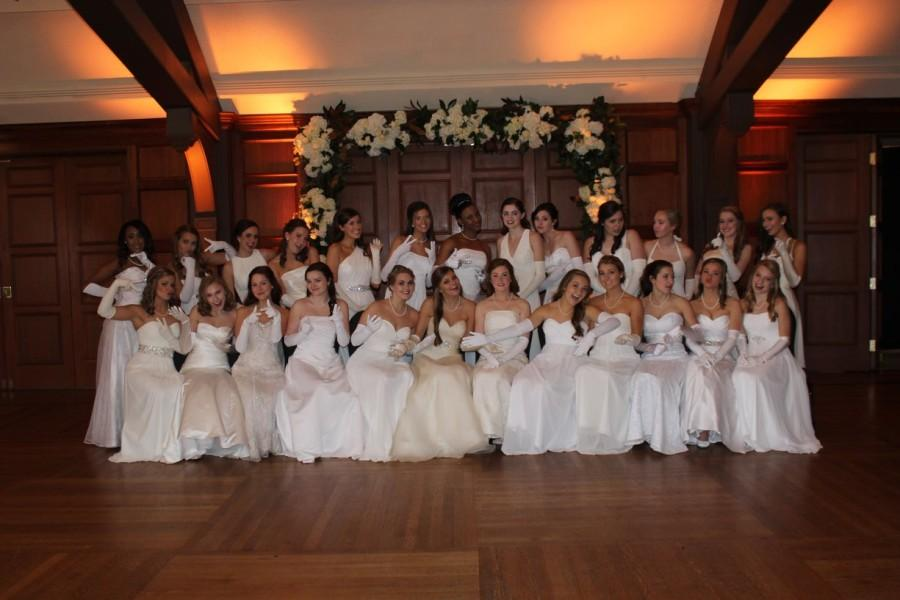 The junior girls sit for one last group picture before the presentation at Cotillion. The 2016 Wolf River Cotillion took place on Saturday, Jan. 23.