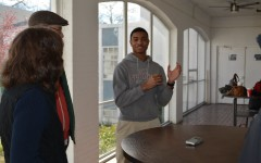 Junior Alton Stovall talked service with Serve 901 leaders at the new SGIS bunkhouse. Stovall is one of many students who is excited to see the impact the new space will have on St. George's and the community.