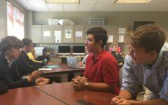 Maita talks with classmates during advisory. Maita returned to Lebanon on Sept. 20.
