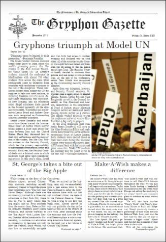 Gryphon Gazette Volume X