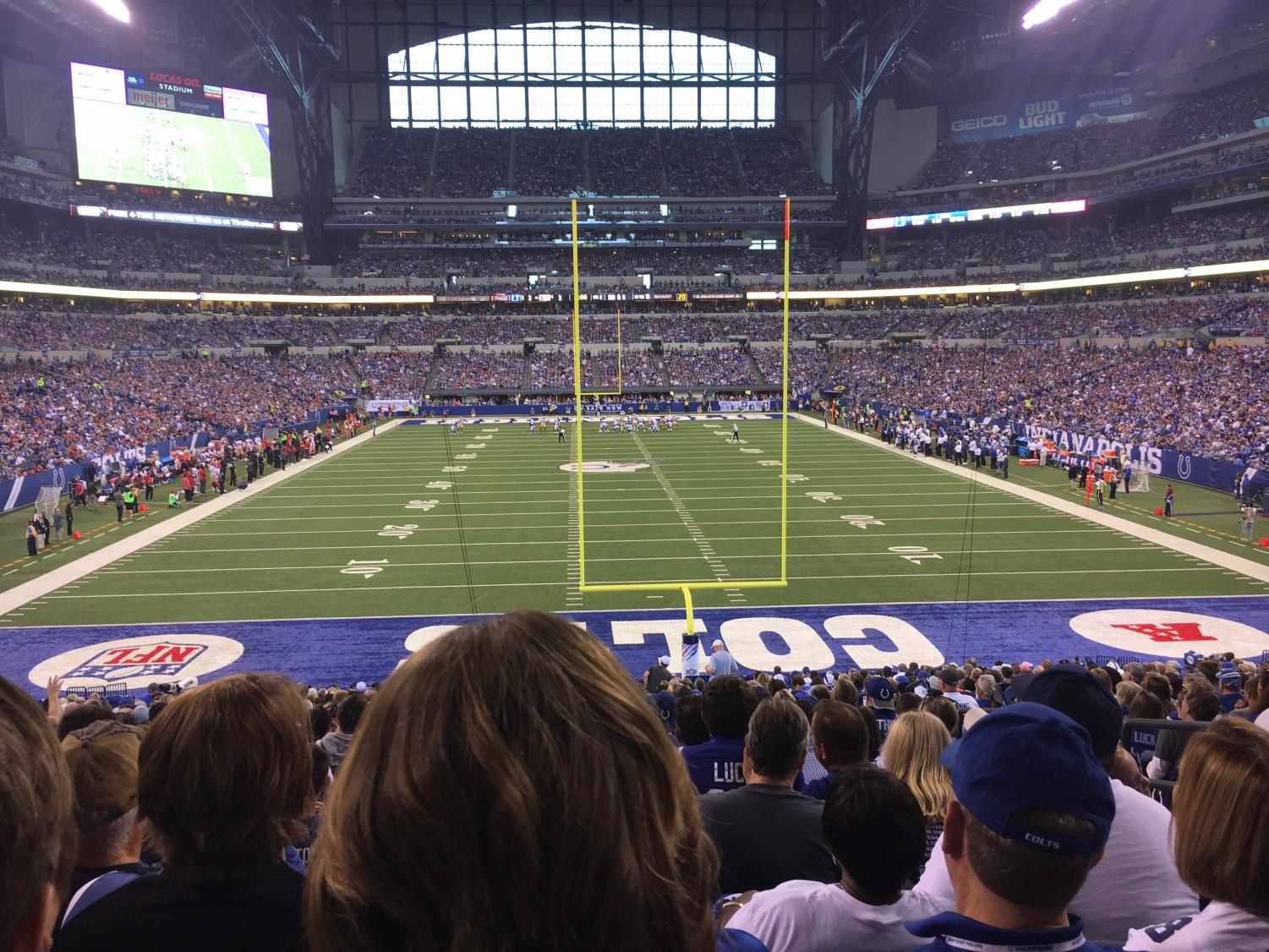 The Indianapolis Colts host the San Francisco 49ers at Lucas Oil Stadium on Oct. 8, 2017.