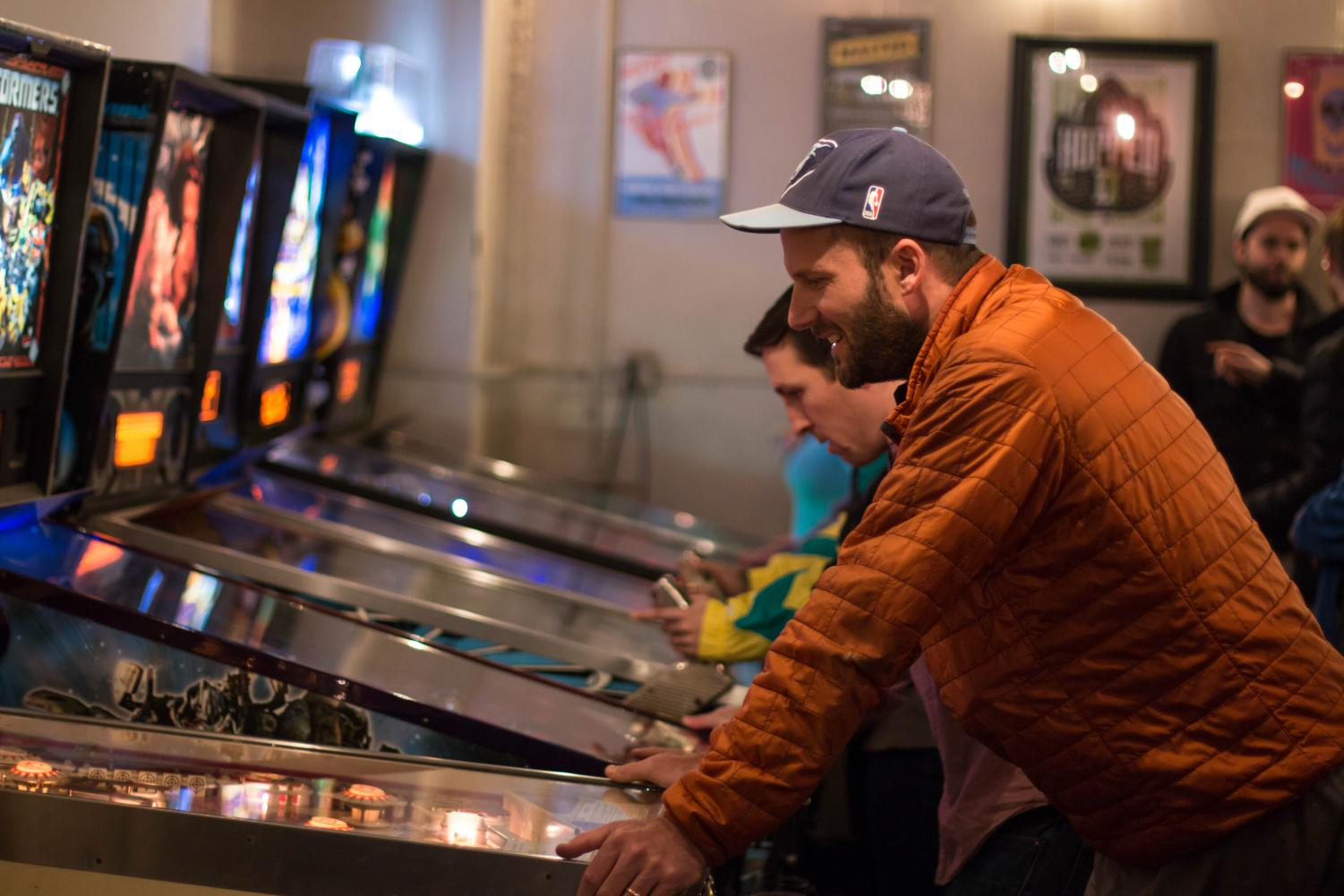 Mr. Sullivan focuses his attention on victory over his opponents. He started playing pinball as a college student in Santa Barbara, Calif. and has loved the game ever since.