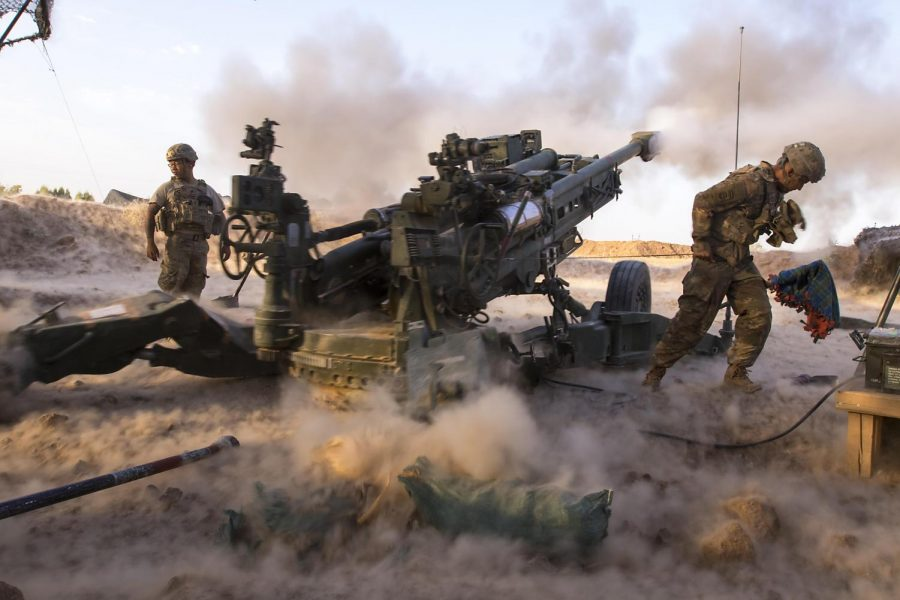 Soldiers with Charlie Battery, 2nd Battalion, 319th Airborne Field Artillery Regiment, 82nd Airborne Division, engage ISIS militants with precise and strategically placed artillery fire in support of Iraqi and peshmerga fighters in Mosul, July 6, 2017.