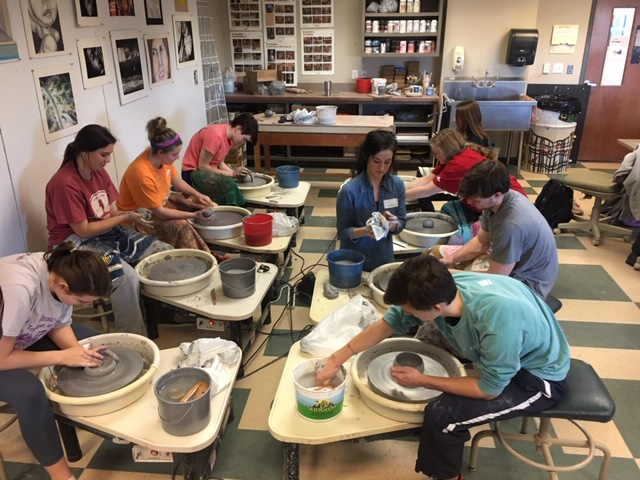 Students+in+Advanced+Art+make+tea+pots+with+the+help+of+a+ceramic+artist+on+January+30th%2C+the+third+day+of+GryphGiving.+Later+that+day%2C+they+went+to+the+Brooks+Museum+and+Crosstown+Concourse.