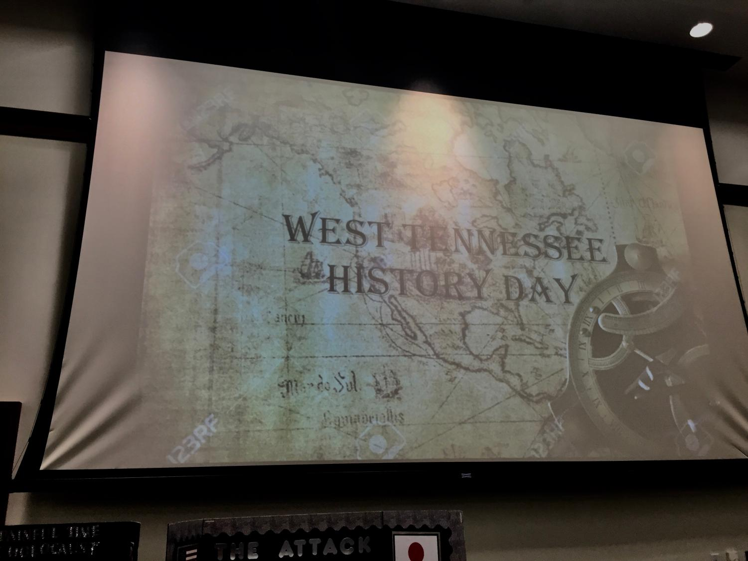 The West Tennessee History Day presentation was shown in the exhibit room.