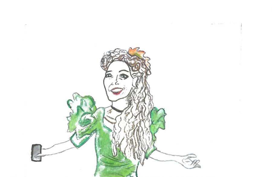 Illustration of Amber Gray in her role as Persephone in