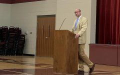 Mr. Peters speaks at the chapel follow-up on Tuesday, Sept. 17. Many students had an issue with Rev. Momberg's sermon and its problematic language.