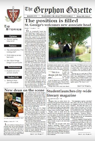 Gryphon Gazette Volume XII