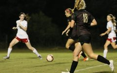 (Photo on File) Maddie Bishop leads the attack in a regional game against Harding last October.