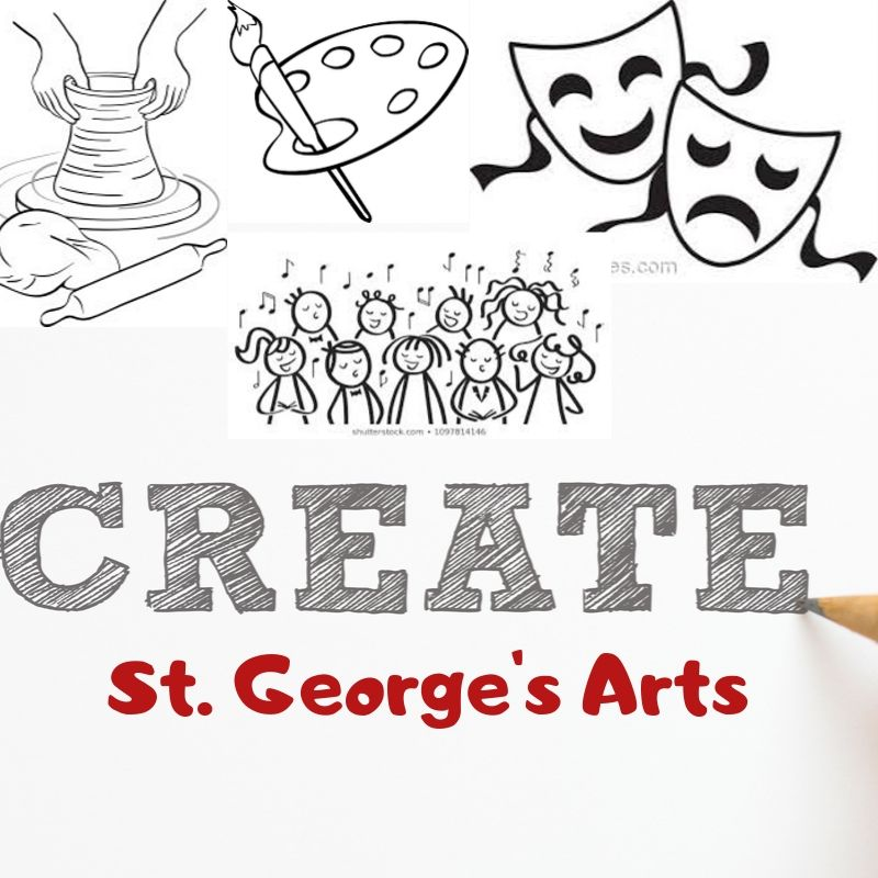 The St. Georges Arts are being represented in this illustration by Keiara Baker