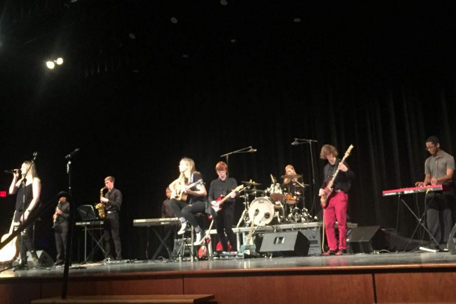 The full period five band performs at Briarcrest Christian School. The band played a mix of Mid-South Soul and RnB.