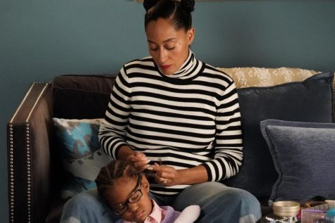 The photo from the episode of Black-ish  is a flashback to a point in time when Rainbow styled Diane
