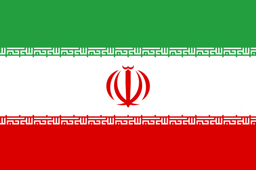 The flag of the Islamic Republic of Iran