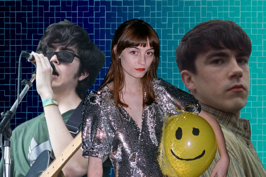 Left to right, Will Toledo of Car Seat Headrest, Faye Webster and Declan McKenna. All three artists released new singles this week. Photo Illustration by Owen Hewitt.